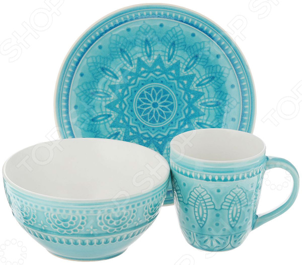 Набор: кружка, салатник и тарелка Tongo S-03