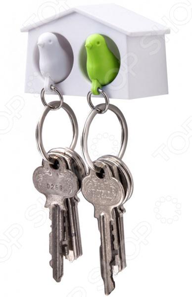 Держатель и брелок для ключей Qualy Mini Sparrow