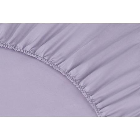 Купить Простыня на резинке Ecotex Premium. Тип ткани: сатин. Цвет: сиреневый