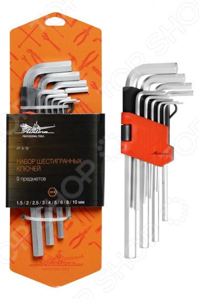 Набор ключей шестигранных Airline AT-9-19 набор шестигранных угловых ключей sata 9 предметов metric пластиковый блистер 09107a