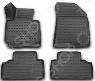 цена на Комплект 3D ковриков в салон автомобиля Novline-Autofamily KIA Carens 2013 4