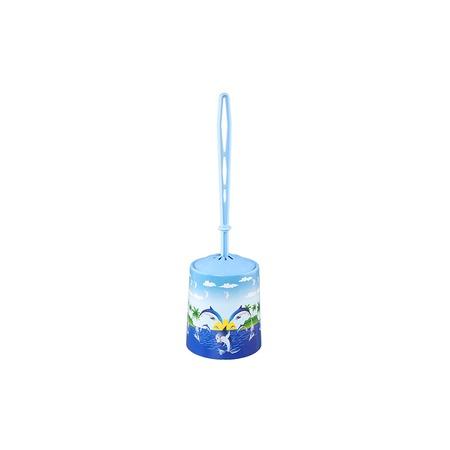 Купить Ёршик для туалета и подставка круглая для детей Violet 1401/83 «Дельфин»