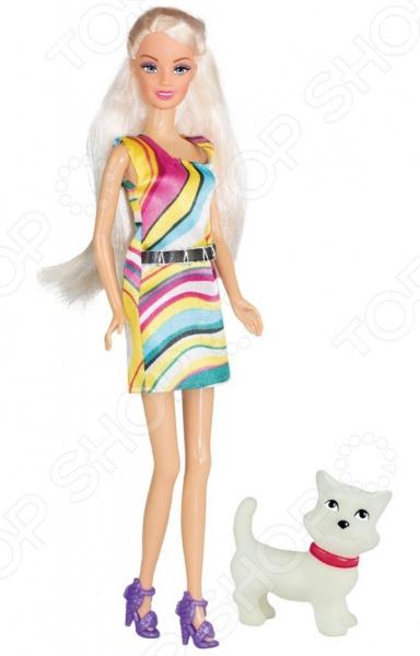 Кукла Toys Lab «Блондинка в ярком платье: Прогулка с щенком»