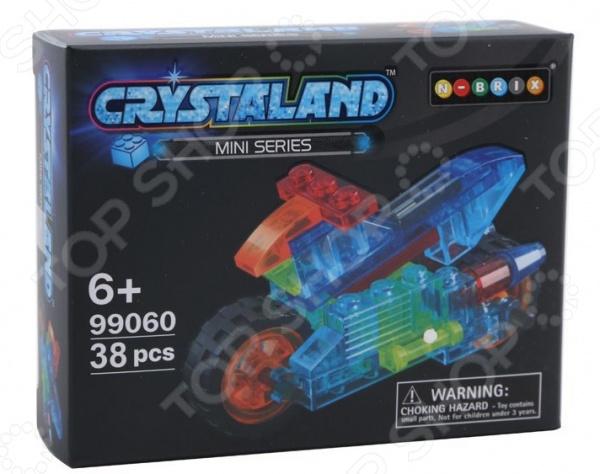 Конструктор-игрушка N-BRIX Crystaland «Мини Мотоцикл» lite brix