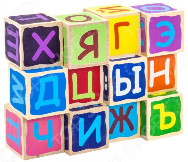 Кубики развивающие Alatoys «Азбука» КБА1202 развивающие деревянные игрушки кубики животные