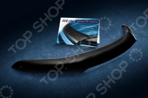 Дефлектор капота REIN Chevrolet Lanos / ZAZ Sens, 2005, седан (ЕВРО-крепеж)