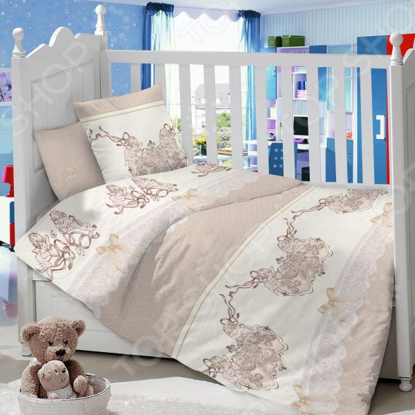 Ясельный комплект постельного белья Dream Time «Ангелы»