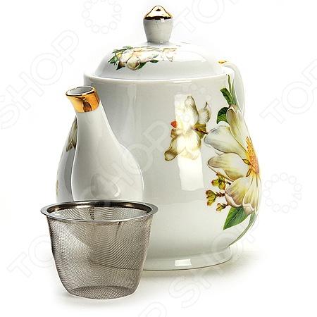 Чайник заварочный Loraine LR-21141 «Цветы»