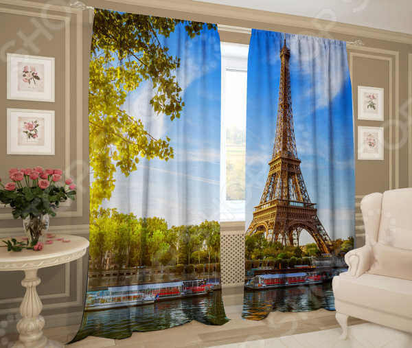 цена на Фотошторы Zlata Korunka «Город мечты - Париж!»