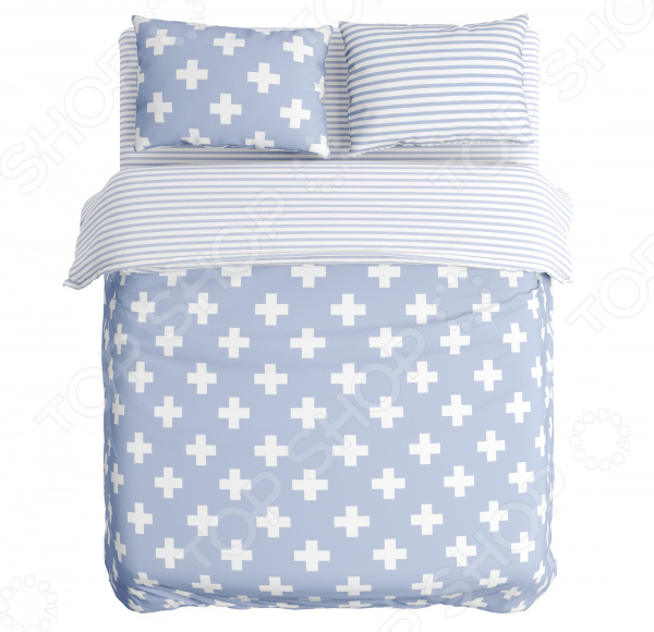 цена Комплект постельного белья Сирень «Крестики» онлайн в 2017 году