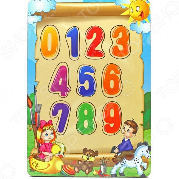 Игра развивающая Мастер игрушек «Рамка-вкладка: Учим цифры»