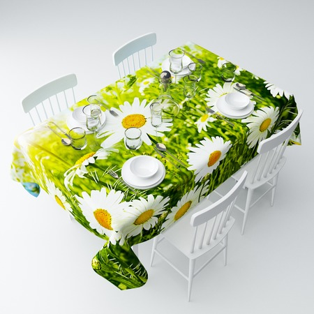 Купить Скатерть Сирень «Ромашки в зелени»