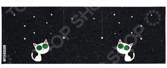 Обложка для студенческого билета Mitya Veselkov «Кошка и звезды» обложка для студенческого билета mitya veselkov ежик ночью