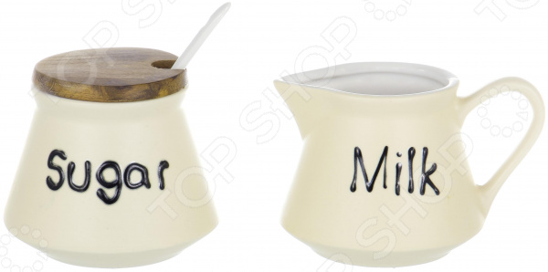 Набор: сахарница и молочник Elrington «Суфле»