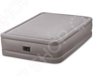 Матрас-кровать надувной со встроенным электронасосом Intex Foam Top Bed
