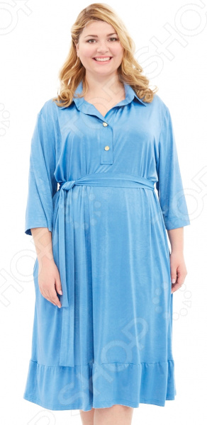 Платье Laura Amatti «Бархатная леди». Цвет: голубой