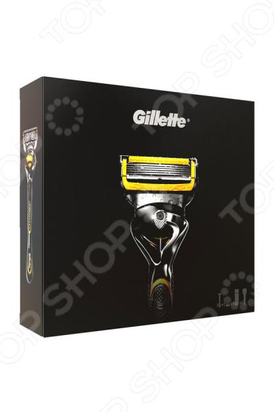 Подарочный набор для мужчин: бритва  гель  бритья Gillette Fusion ProShield&ActiveSport