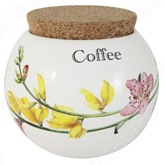 Банка для сыпучих продуктов Ceramiche Viva «Фреско. Кофе» imari банка для сыпучих продуктов магнолия