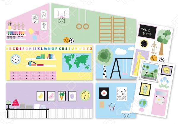 Фото - Аксессуары для домика Lundby «Обои. Школа» кукольные домики и мебель lundby аксессуары для домика креативные обои