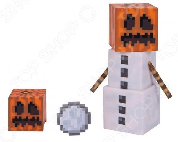 Набор фигурок игрушечных Minecraft «Снежный Голем» minecraft бумажный конструктор снежный биом