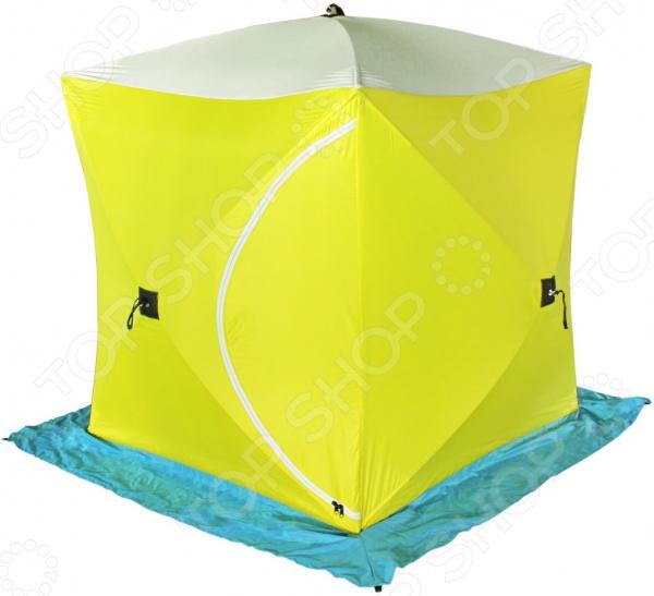 палатка caperlan внешний тент для палатки tanker frontview Палатка СТЭК «Куб 3» трехслойная брезентовая