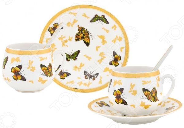 Кофейная пара Elan Gallery «Бабочки» 730283