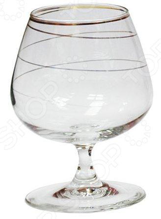 Набор бокалов для бренди Гусь Хрустальный «Змейка» набор бокалов для бренди гусь хрустальный версаче 400 мл 6 шт