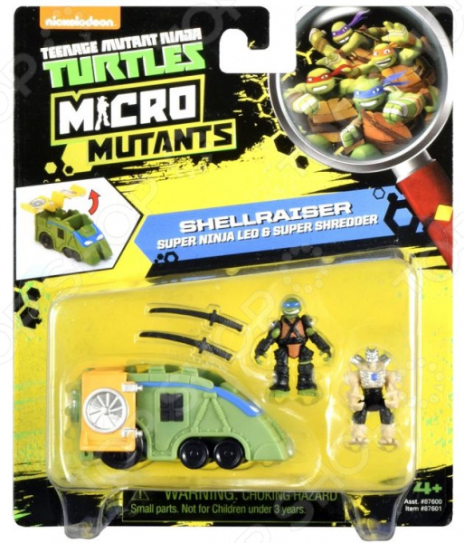 Игровой набор Nickelodeon Shellraiser. Super Ninja Leo & Super Shredder
