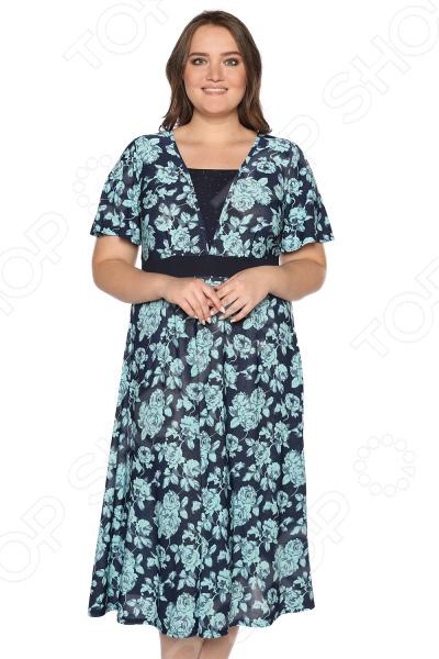 Платье Матекс «Иллюзия солнца». Цвет: синий