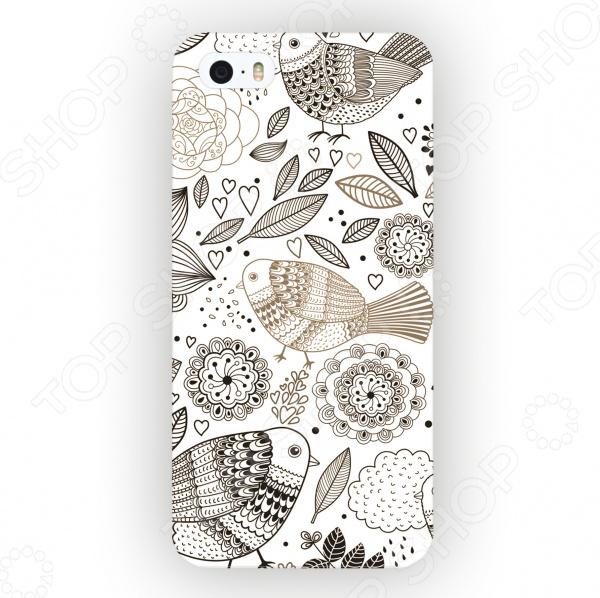 Чехол для iPhone 5 Mitya Veselkov «Цветы и Птички» чехол для iphone 5 mitya veselkov птички невелички