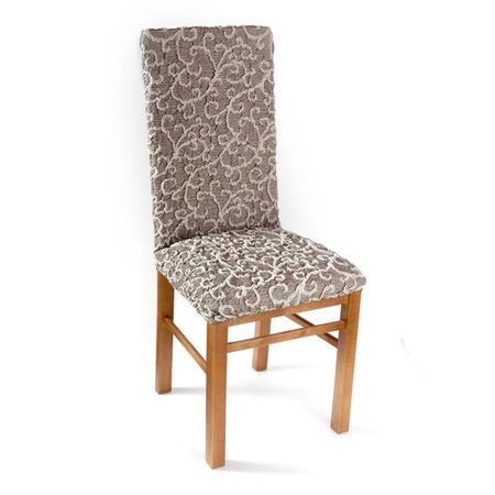 Купить Натяжной чехол на стул Еврочехол «Жаккард. Волны»