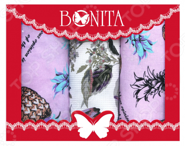 Набор кухонных полотенец BONITA «Тропики» набор полотенец для кухни bonita набор из 2 полотенец для кухни фрукты овощи