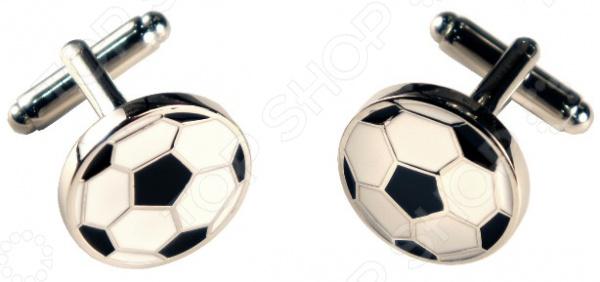 Запонки Mitya Veselkov «Черно-белые футбольные мячи» запонки mitya veselkov пули двухцветные