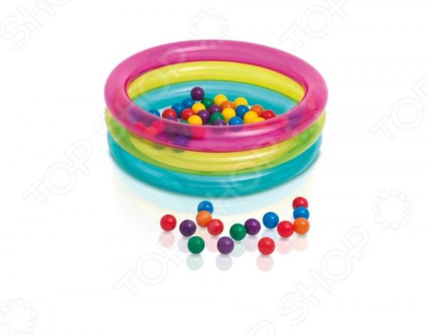 Бассейн надувной детский Intex с шариками «Классический»