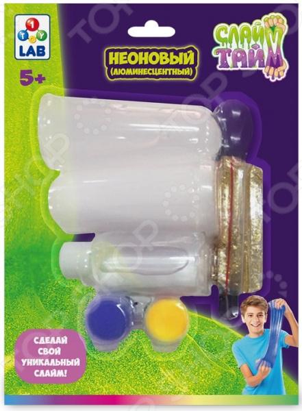 Набор для изготовления слайма 1 Toy LAB «Сделай слайм: Неоновый»