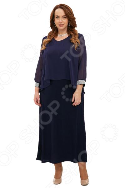 Платье Pretty Woman «Королевский прием». Цвет: темно-синий