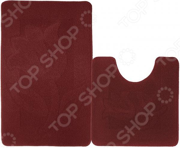 Набор ковриков для ванной комнаты Kamalak textil УКВ-1055