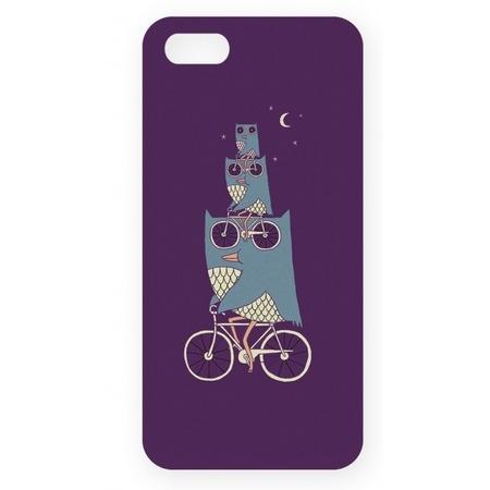 Чехол для IPhone 5 Mitya Veselkov «Совы на великах»