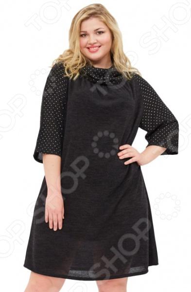 Платье Wisell «Звездное сияние». Цвет: черный