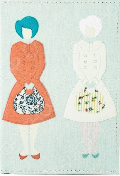 Обложка для автодокументов кожаная Mitya Veselkov «Дамы с сумочками»