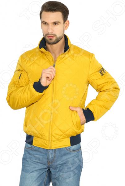 Куртка Finn Flare B17-42003. Цвет: горчичный