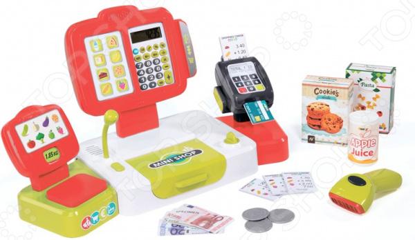 Игровой набор для ребенка Smoby «Электронная касса с аксессуарами» игровой набор smoby 350107 электронная касса