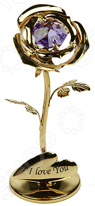 Фигурка декоративная Crystocraft «Роза» с кристаллами Swarovski 67492