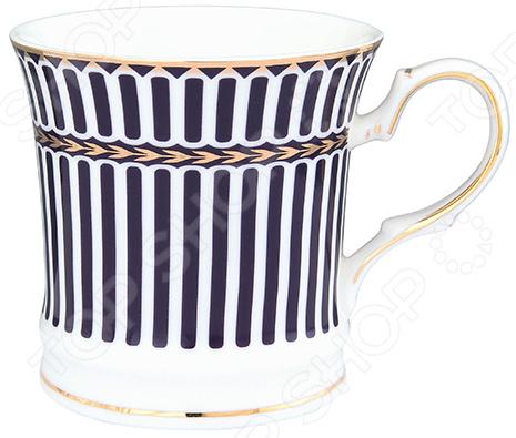 Кружка Elan Gallery «Синие полоски» 730589 elan gallery чайник с поршнем viva полоски