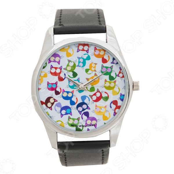 часы наручные mitya veselkov кошки мешанина Часы наручные Mitya Veselkov «Кошки - мешанина»