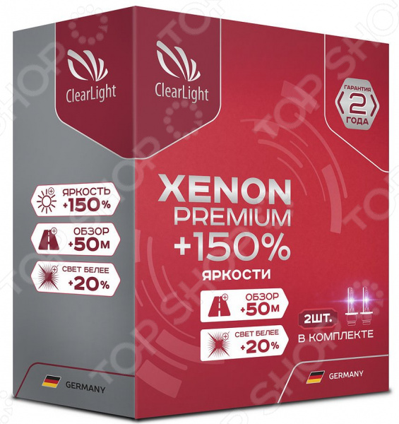 Комплект автоламп ксеноновых ClearLight Xenon Premium +150% H7