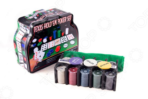 Набор игровой подарочный Покер 42449 комплект для азартных игроков. Наверняка придутся по вкусу любителям карточных игр, типа Покера, Билот и других. Колоду можно брать с собой в дорогу или играть дома с друзьями. Изображения яркие и красочные, классического типа. В набор входят колоды карт, дилерская кнопка и профессиональные фишки для покера. Рекомендуется регулярно удалять пыль сухой, мягкой тканью; а также беречь от влаги.