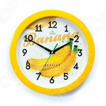 Часы настенные Вега П 1-2/7-255 «Бананы»