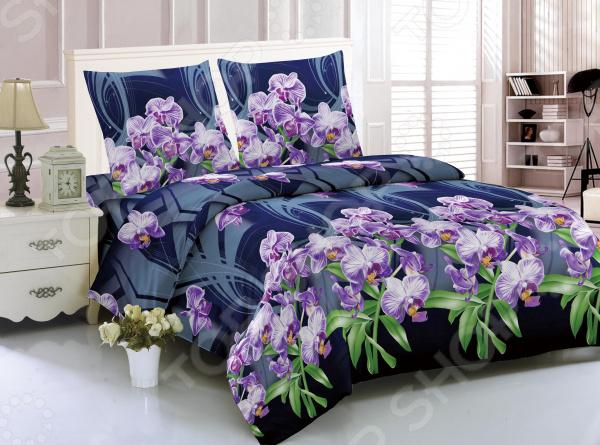 Комплект постельного белья Amore Mio Sydney. Рисунок: орхидеи. 1,5-спальный