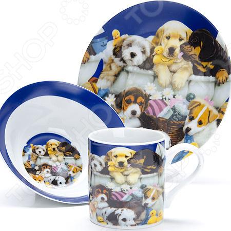Набор посуды для детей Loraine LR-27110 «Собачка»